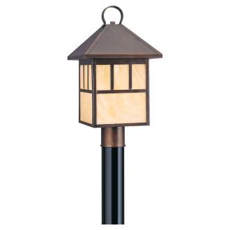 Sea Gull Lighting 82947PBLE-71 Prairie Statement - One Light Post Lantern
