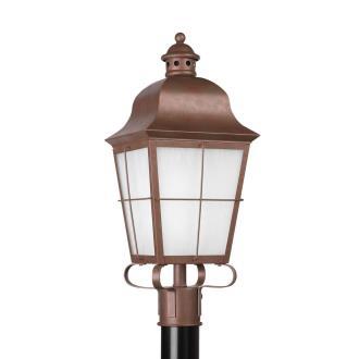 Sea Gull Lighting 82973BL-44 Chatham - One Light Outdoor Post Lantern